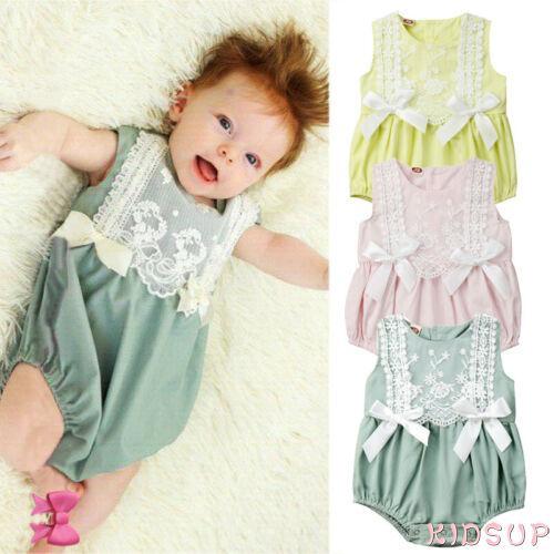 ♛♚♛Newborn Baby Girls Ruffle One-Pieces Romper Bodysuit Jumpsuit Outfits Sunsuit