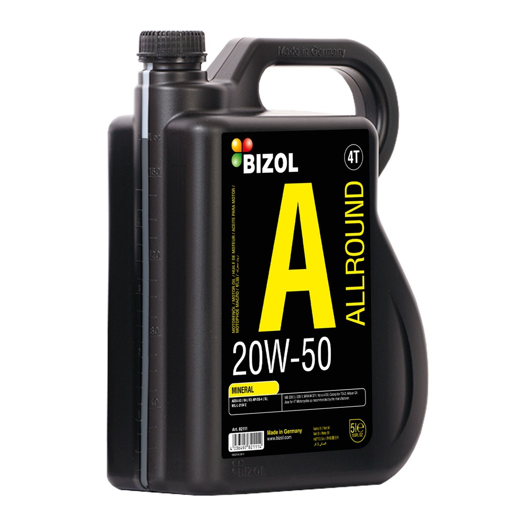 Dầu động cơ ô tô và xe máy Bizol Allround 20W-50