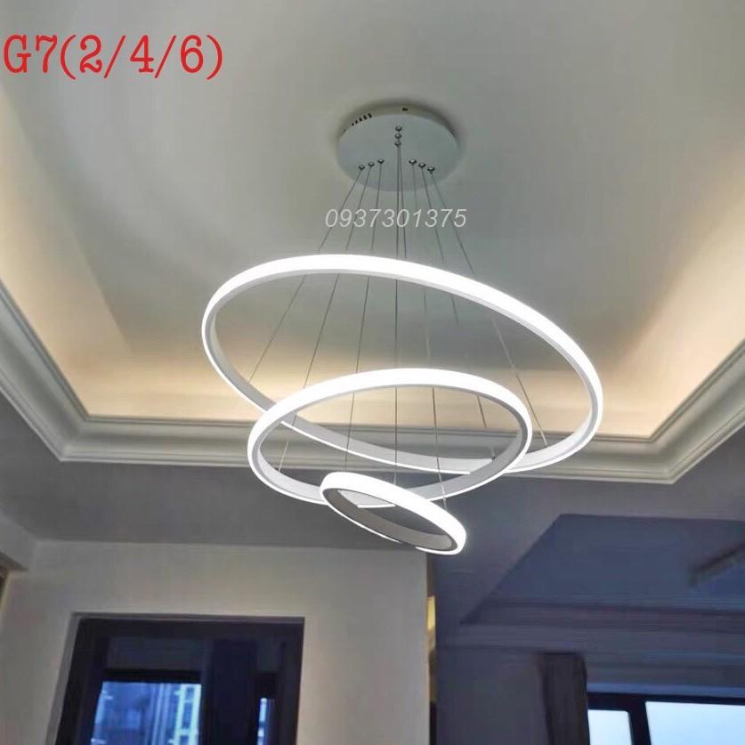 Đèn thả trần trang trí phòng khách,bàn ăn,Đèn led sáng 3 chế độ màu MS-G7(Tặng kèm remote điều khiển từ)