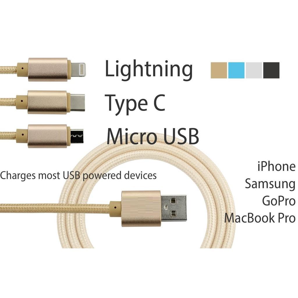 [SALE – GIÁ VỐN] Cáp 3 trong 1 cổng kết nối tốc độ cao, kết nối cực nhanh - iPhone, Samsung, máy tín