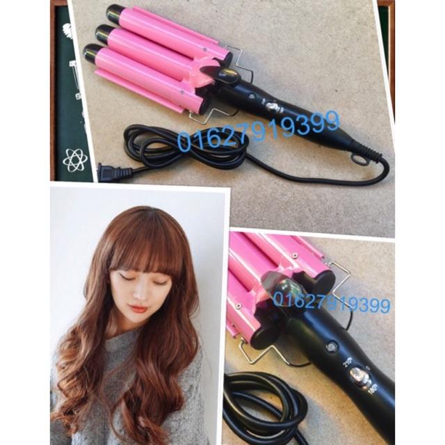 Máy uốn tóc 3 trục HE19 - 9959452 , 578686743 , 322_578686743 , 270000 , May-uon-toc-3-truc-HE19-322_578686743 , shopee.vn , Máy uốn tóc 3 trục HE19