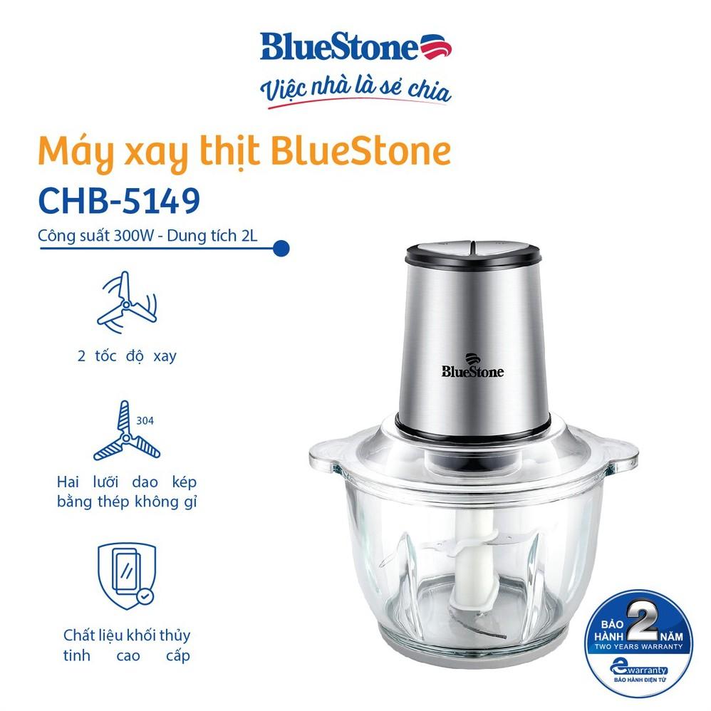 [Mã ELMALL11 giảm 6% đơn 500K] Máy Xay Thịt 2 Lưỡi Dao Kép 2L BlueStone CHB-5149