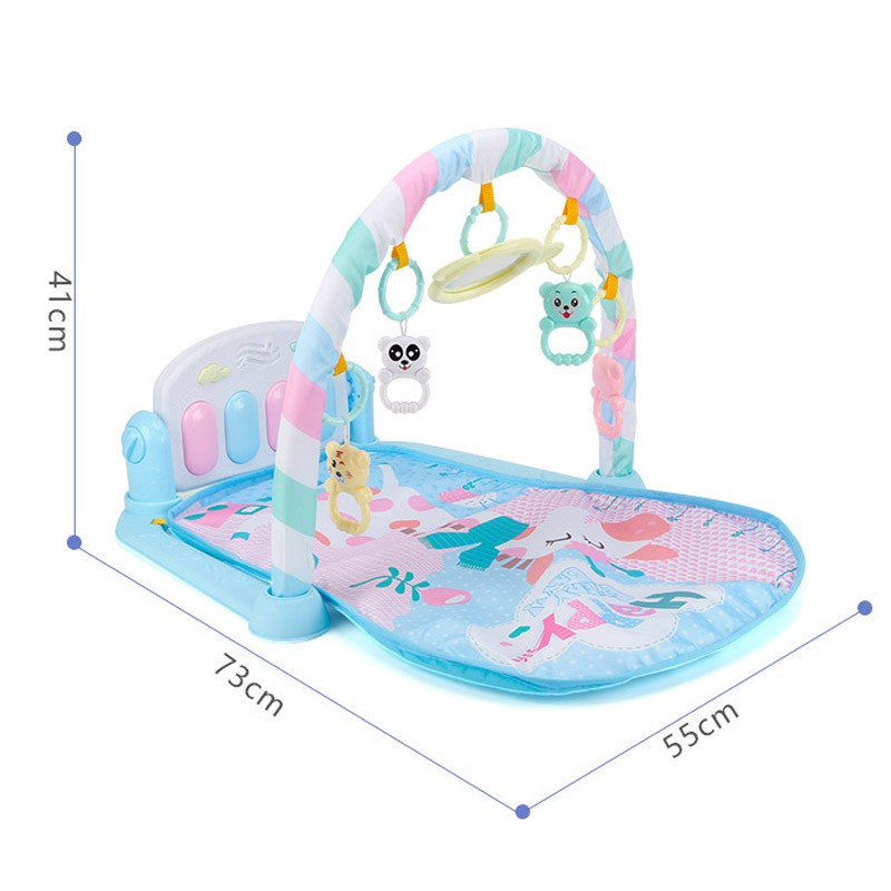 Baby Play Mat Fitness Bodybuilding Frame Pedal Piano Music Carpet Blanket Kick Play Lay Sit Toy