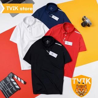 Áo thun có cổ Tvik lên form chuẩn đẹp, chất vải cá sấu co giãn mặc thoải mái, ATR