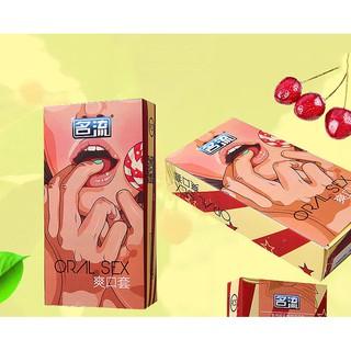 Bao cao su cho quan hệ bằng miệng hương cherry thumbnail
