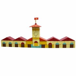 Đồ chơi gỗ lắp ghép mô hình chợ Bến Thành Colligo 10318