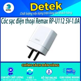 Cóc sạc điện thoại Remax RP-U112 5V-1.0A (Trắng)