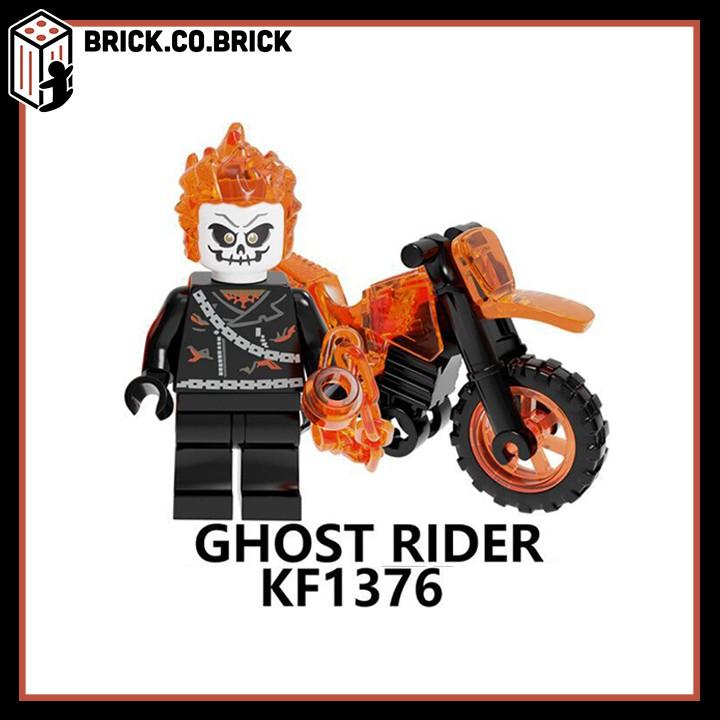 Ghost Rider - Ma tốc độ- Đồ chơi lắp ráp - Mô hình minifig và non lego siêu anh hùng - Super Heroes kèm xe cực chất