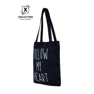 Hình ảnh Túi Vải Đeo Vai Tote Bag Follow XinhStore-1