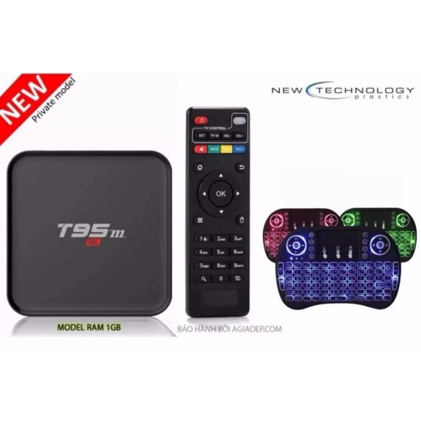 Tivi BOX T95M Siêu nét 4K tích hợp FPT Play và Bàn phím kiêm chuột cảm ứng (nhiều màu)