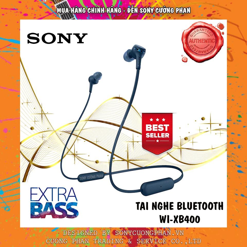 Tai Nghe Nhét Tai Bluetooth Sony Extra Bass WI-XB400 - Chính Hãng Sony Việt Nam - Bảo Hành 12 Tháng
