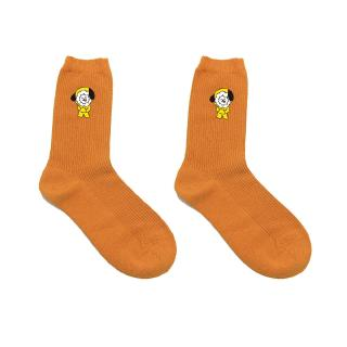 BTS Orange Long Cotton SocksBT21 Girls Socks