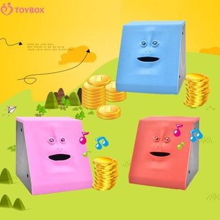 TOYBOX Human face piggy bank intelligent music sensor face piggy bank toy without battery TOYBOX