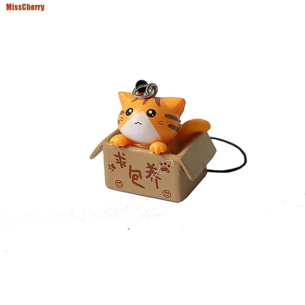 1 Móc Khóa Điện Thoại Hình Mèo Đáng Yêu