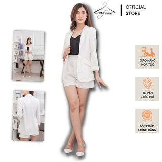 Set áo vest blazer nữ + quần short ống rộng - SV03 - WFStudios thumbnail