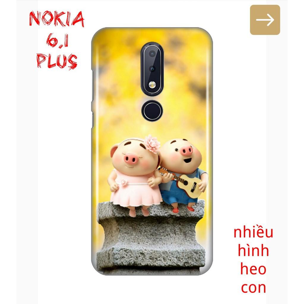 Ốp Lưng Nokia 6.1 Plus Nhiều Hình Heo Con Dể Thương