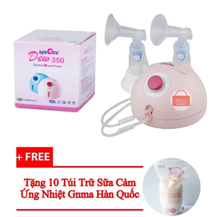 Tặng 10 Túi Trữ Sữa Máy Hút Sữa Spectra Dew 350