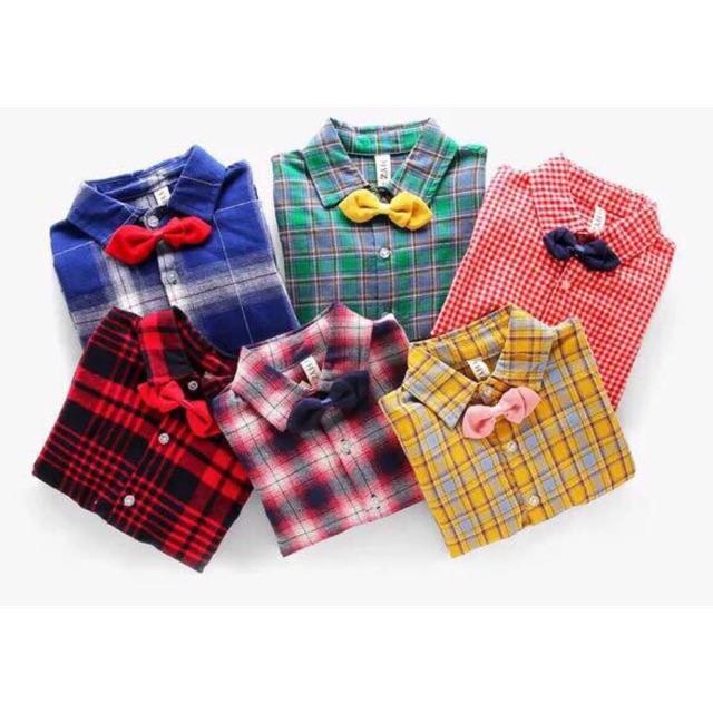 Combo 2 áo sơ mi kẻ bé trai kèm nơ quảng châu size 1-7 tuổi - 2753917 , 784619184 , 322_784619184 , 310000 , Combo-2-ao-so-mi-ke-be-trai-kem-no-quang-chau-size-1-7-tuoi-322_784619184 , shopee.vn , Combo 2 áo sơ mi kẻ bé trai kèm nơ quảng châu size 1-7 tuổi