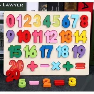 Bảng gỗ Số học, đồ chơi Gỗ Giáo Dục