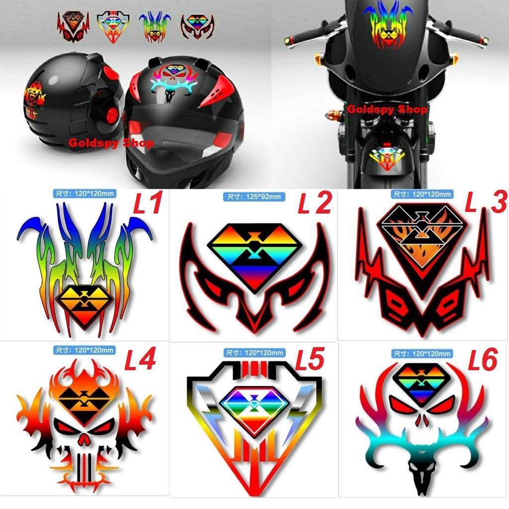 Tem phản quang Spirit Beast dán mõm, dè trước, dán mặt nạ, dán mũ bảo hiểm, dán đầu xe máy...(hàng chính hãng giá 1 cái)