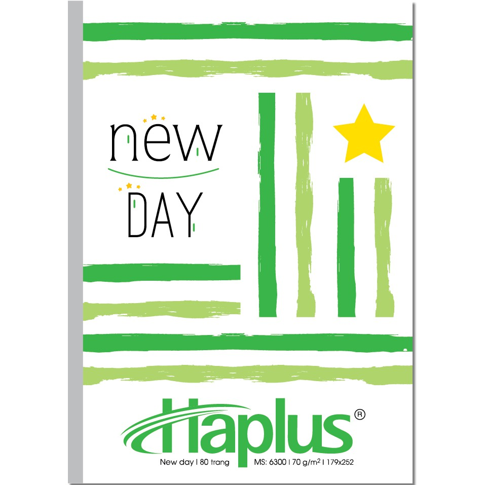 combo 10 quyển vở kẻ ngang HAPLUS - NEW DAY 120 trang KT (179x252) bìa cao cấp