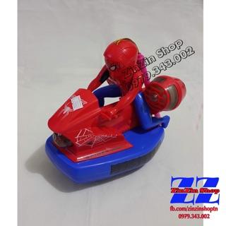 Đồ chơi trung thu siêu nhân nhện lái mô tô ( có đèn , có nhạc)