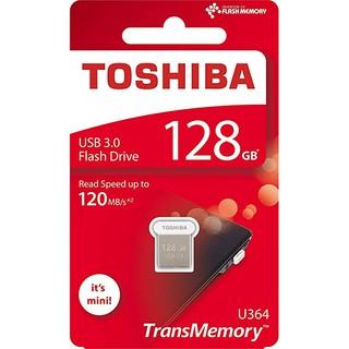 USB 3.0 Toshiba TransMemory Mini U364 128GB 120MB - Bạc