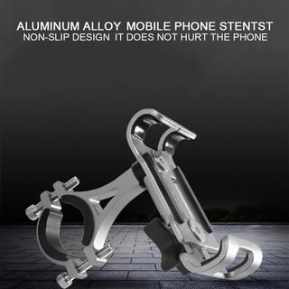Mobile Phone Holder stand Bicycle Handlebar Aluminum Alloy Bracket Moto Outdoor Riding Handlebarfor Navigation Fixed Bracket