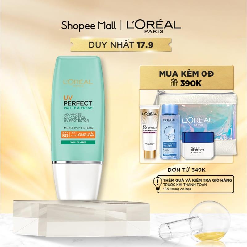 Kem chống nắng bảo vệ & dưỡng da L'Oreal Paris UV Perfect SPF50+ PA++++ 30ml