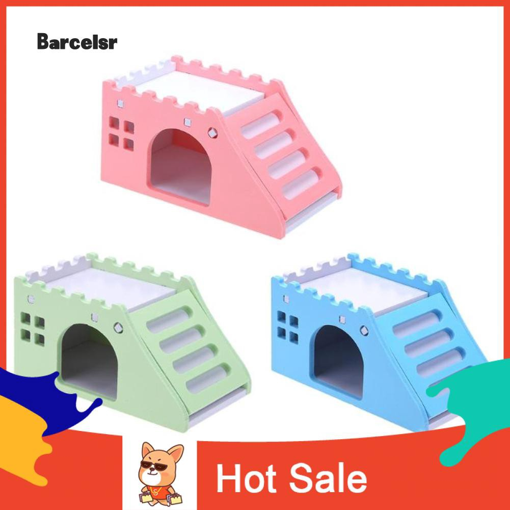 ♡ Lovely Wooden Mini Viewing Platform Hamster Toy Small Animals Pet House Decor