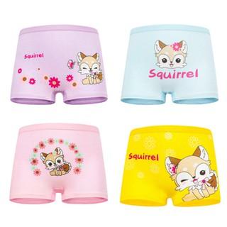 Set 4 quần chip đùi cho bé gái 2-12 tuổi chất cotton mềm mại co giãn tốt họa tiết theo chủ đề đủ màu sắc BBShine-C015 thumbnail