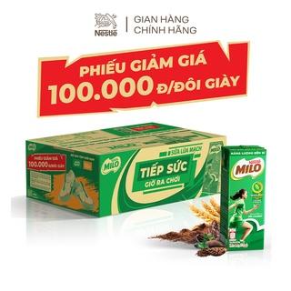 [Milo x Biti's Kids voucher] Sữa lúa mạch Nestlé Milo thùng 48 hộp x 180ml (12x4x180ml)