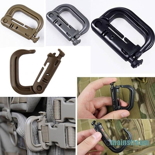 [mainstream]Molle Tactical Backpack EDC Shackle Snap D-Ring Clip KeyRing