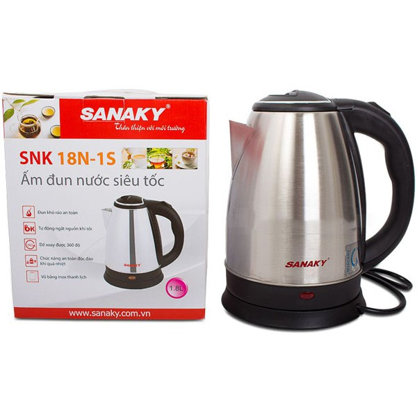 Bình đun siêu tốc Sanaky SNK-18N-1S