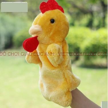 Rối bàn tay hình con gà trống
