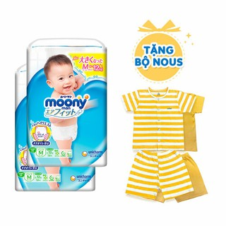[Tặng bộ quần áo Nous 9-12m] Bộ 2 tã quần cao cấp Moony M58