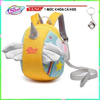 Balo kỳ lân sừng nhọn thời trang cho bé đa năng có kèm dây chống đi lạc Shalla tặng móc khóa cá heo thumbnail