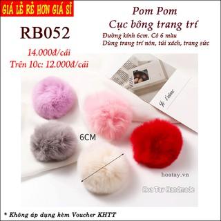 Pom Pom – Cục bông trang trí nón, túi xách, trang sức RB052