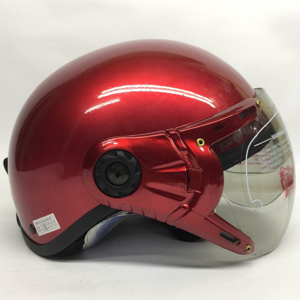 Mũ bảo hiểm V&S đỏ đô