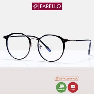Gọng kính cận nữ FARELLO kim loại, mắt tròn có thể đeo đi đường chống bụi, nhiều màu sắc lựa chọn - 2256