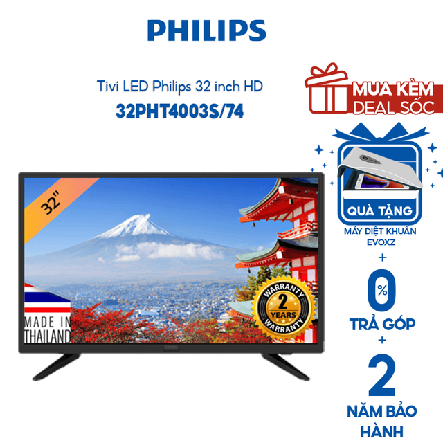 Tivi Philips Led HD 32 Inch- 32PHT4003S/74