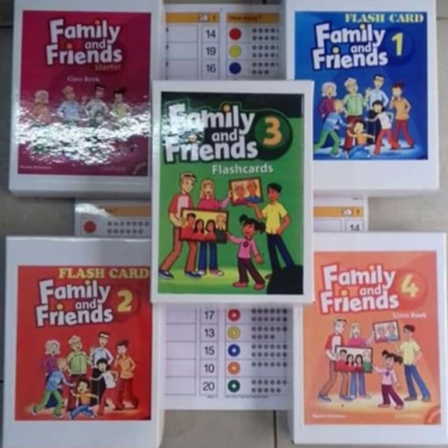 Thẻ flashcard family and friend 2 khổ A5 2 mặt