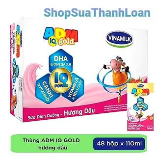 [HSD T4-2021] THÙNG 48 HỘP SỮA DINH DƯỠNG ADM GOLD DÂU 110ML