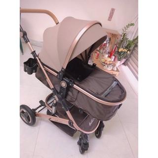 Xe đẩy cho bé Belecoo nôi gấp gọn 2 chiều có mái che cho bé từ sơ sinh-3 tuổi chịu lực 25kg LinhNam phân phối chính hãng thumbnail