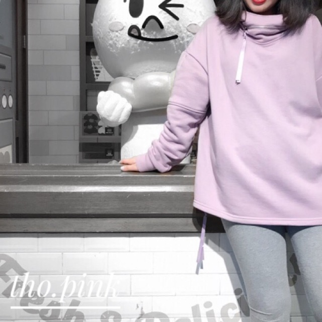 áo ulzzang nỉ purple