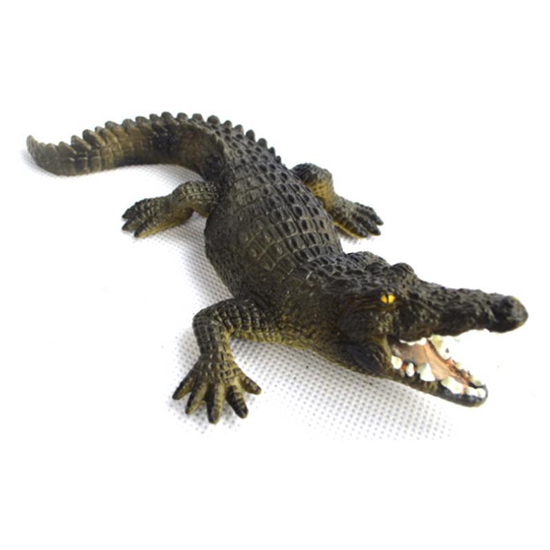 Simulated Static Crocodile Model Toy Zoo Wildlife Animal Figure Kids Educational