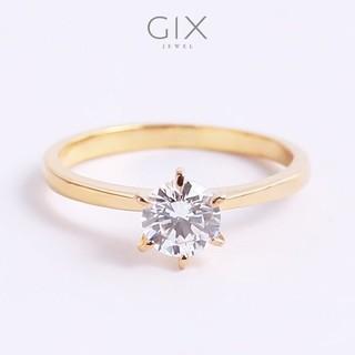 Nhẫn đính hôn bạc mạ vàng kim cương CZ Gix Jewel N72 thumbnail