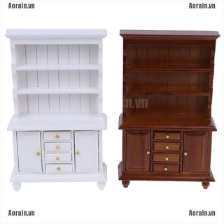 MT 1/12 Dollhouse Miniature Furniture Multifunction Wood Cabinet Bookcase Cabinet NY