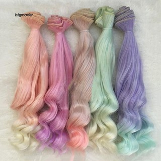 BGMD_Smooth Natural Color Extension Long Curly Hair BJD SD Wigs Doll Accessories