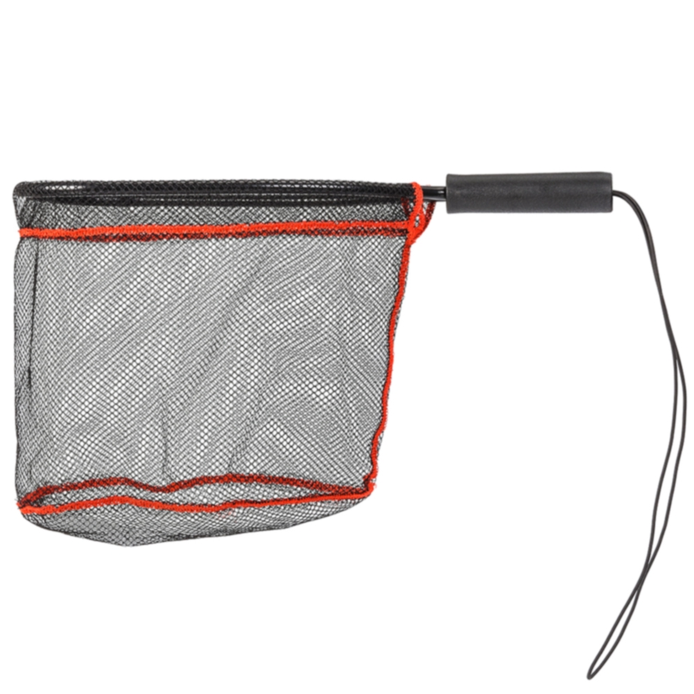 Portable Release With Lanyard Mesh Fly Fishing Tools Catch Handheld Monofilament Telescopic Folding Landing Net